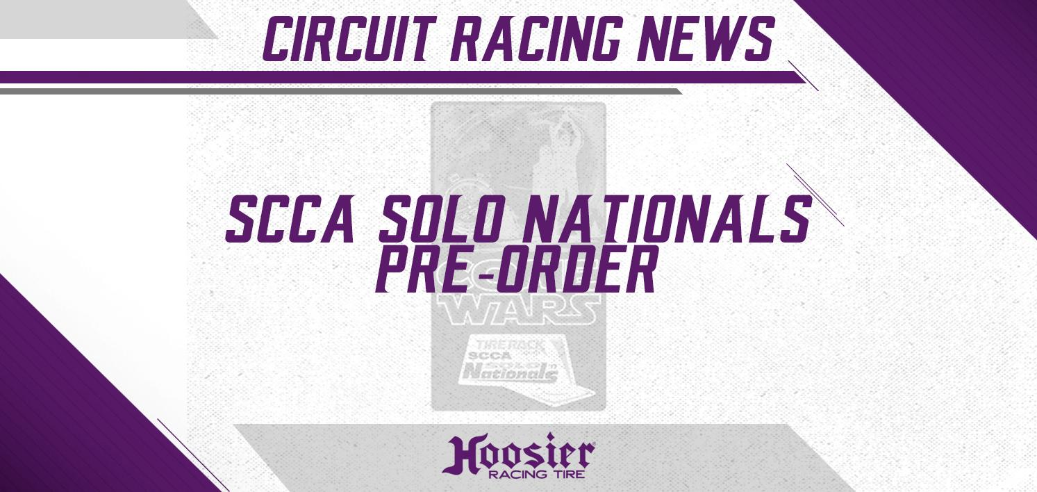 Pre-Orders Now Being Accepted For SCCA SOLO Nationals