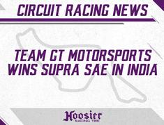 Team GT Motorsports wins SUPRA SAE in India on Hoosiers